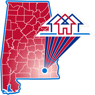 Map showing the location of Enterprise Housing Authority in Alabama